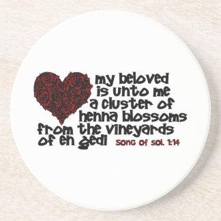 Song of Solomon 1:14 Drink Coasters