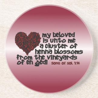 Song of Solomon 1:14 Beverage Coasters