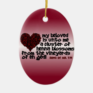 Song of Solomon 1:14 Christmas Tree Ornaments