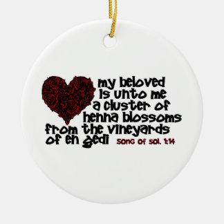 Song of Solomon 1:14 Christmas Ornament