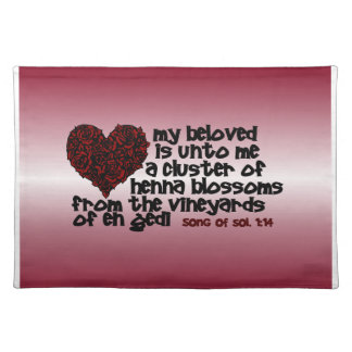 Song of Solomon 1:14 Place Mats