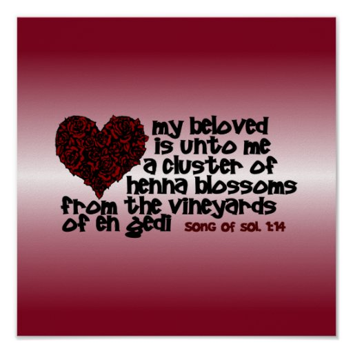 Song of Solomon 1:14 Poster