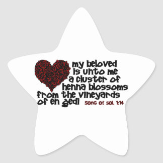 Song of Solomon 1:14 Star Sticker