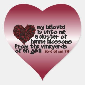 Song of Solomon 1:14 Heart Sticker