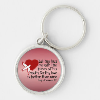 Song of Solomon 1:2 Silver-Colored Round Key Ring