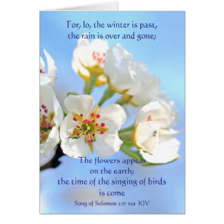 Song of Solomon 2:11-12a The flowers appear Card