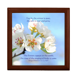 Song of Solomon 2:11-12a The flowers appear Large Square Gift Box