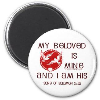Song of Solomon 2:16 6 Cm Round Magnet