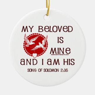 Song of Solomon 2:16 Round Ceramic Decoration