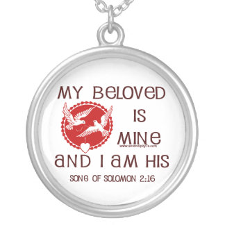 Song of Solomon 2:16 Round Pendant Necklace