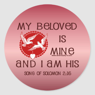 Song of Solomon 2:16 Round Sticker