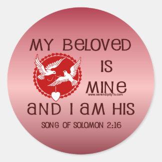 Song of Solomon 2:16 Round Sticker