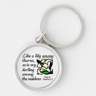 Song of Solomon 2:2 Silver-Colored Round Key Ring