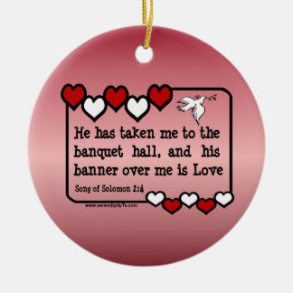 Song of Solomon 2:4 Christmas Ornaments
