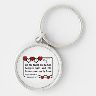 Song of Solomon 2:4 Silver-Colored Round Key Ring