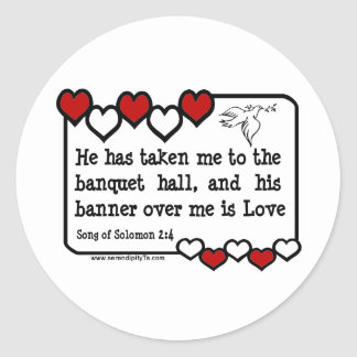 Song of Solomon 2:4 Stickers