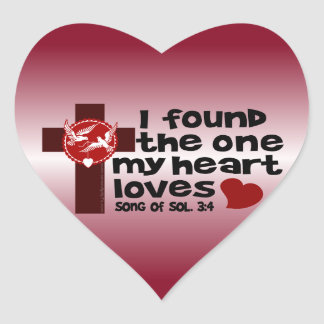 Song of Solomon 3:4 Heart Sticker