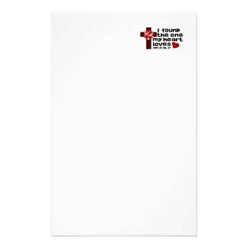 Song of Solomon 3:4 Personalized Stationery