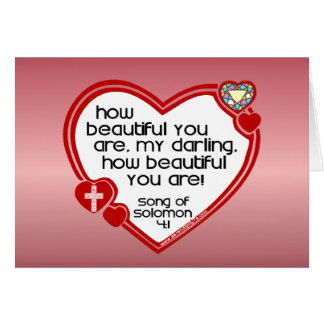 Song of Solomon 4:1 Greeting Card