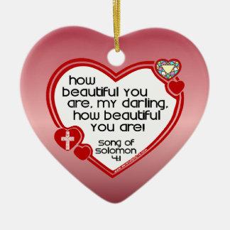 Song of Solomon 4:1 Christmas Ornament