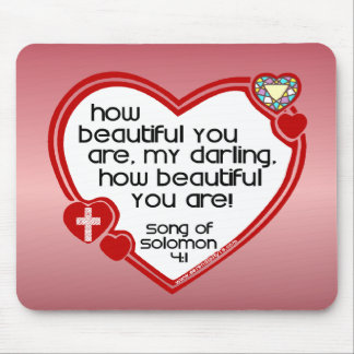 Song of Solomon 4:1 Mouse Pad