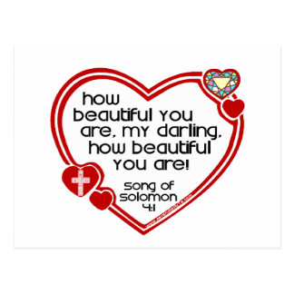 Song of Solomon 4:1 Postcard