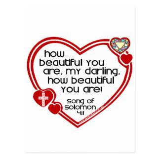 Song of Solomon 4:1 Postcard