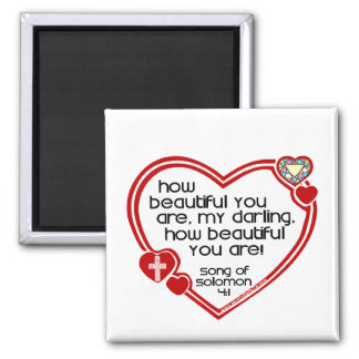Song of Solomon 4:1 Square Magnet