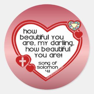 Song of Solomon 4:1 Round Sticker