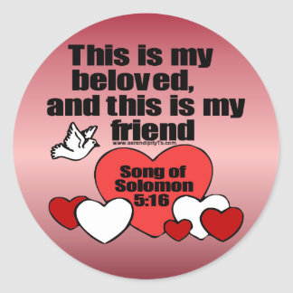 Song of Solomon 5:16 Round Sticker