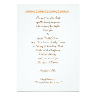 """Song of Solomon 5:16 """"This is my beloved and th... 13 Cm X 18 Cm Invitation Card"""