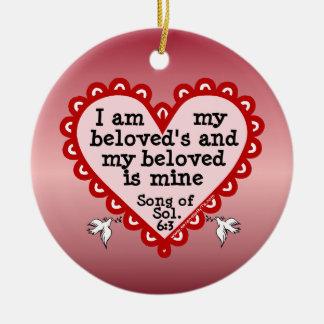 Song of Solomon 6:3 Round Ceramic Decoration