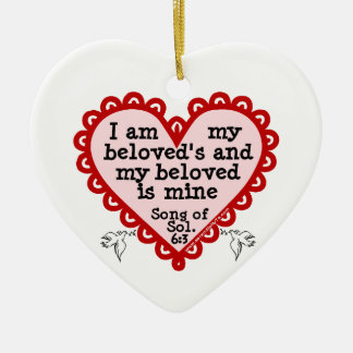 Song of Solomon 6:3 Ceramic Heart Decoration
