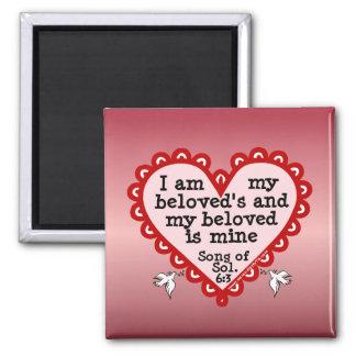 Song of Solomon 6:3 Fridge Magnets