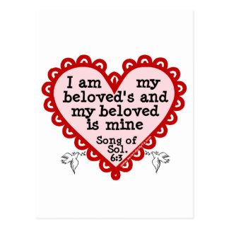 Song of Solomon 6:3 Postcard