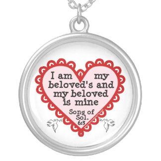 Song of Solomon 6:3 Round Pendant Necklace