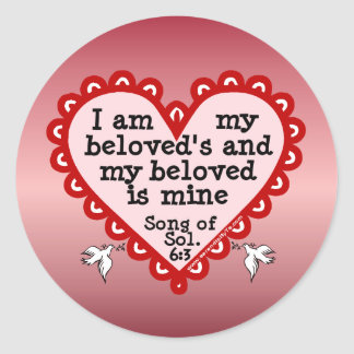 Song of Solomon 6:3 Round Sticker