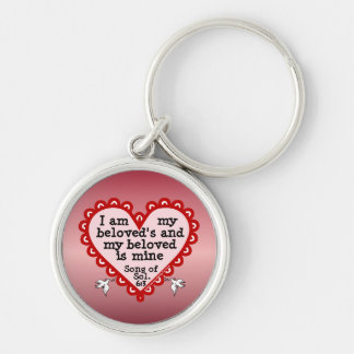Song of Solomon 6:3 Silver-Colored Round Key Ring
