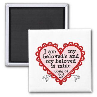 Song of Solomon 6:3 Square Magnet