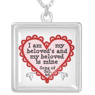 Song of Solomon 6:3 Square Pendant Necklace