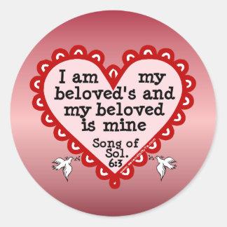 Song of Solomon 6:3 Round Sticker