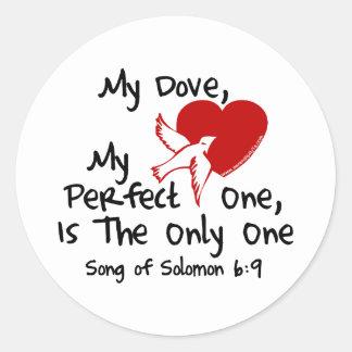 Song of Solomon 6:9 Round Sticker