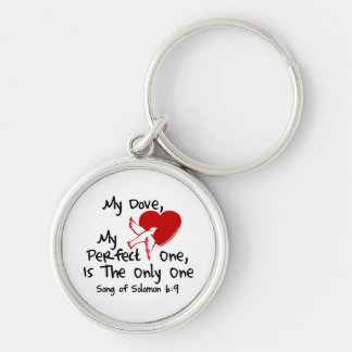 Song of Solomon 6:9 Silver-Colored Round Key Ring