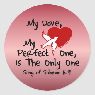 Song of Solomon 6:9 Round Stickers