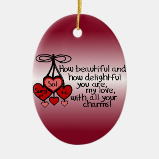 Song of Solomon 7:6 Ceramic Oval Decoration