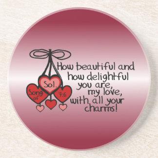 Song of Solomon 7:6 Coaster