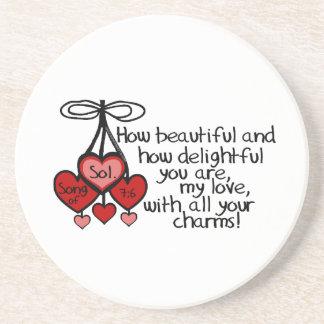 Song of Solomon 7:6 Coasters