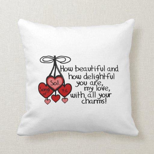 Song of Solomon 7:6 Pillows
