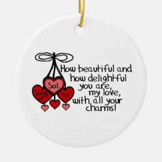 Song of Solomon 7:6 Christmas Tree Ornament