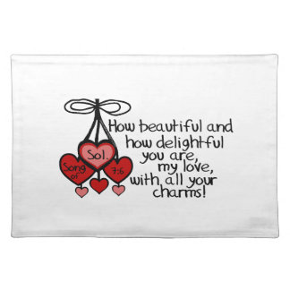 Song of Solomon 7:6 Place Mats